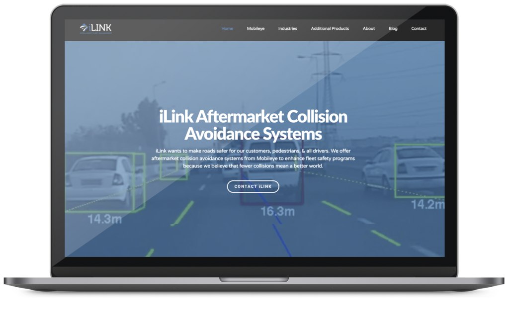 iLink web design project on a macbook