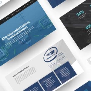 iLink Fleet Solutions Web Design Mockup