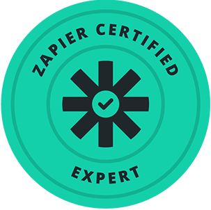 commercial real estate graphic design Zapier Certified Expert Badge