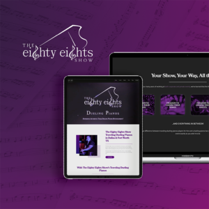 The eighty eights show web design mockup