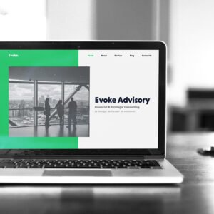 evoke website design project