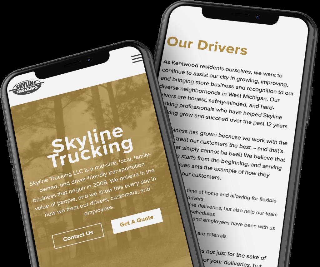 Skyline Trucking Double iPhone Mockup