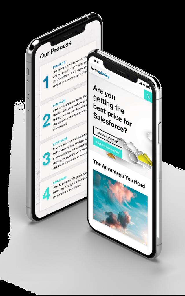Force advising mobile web design projet