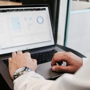 New Digital Marketing Plan on a laptop