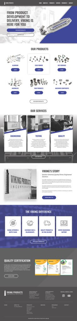 Viking Products Homepage